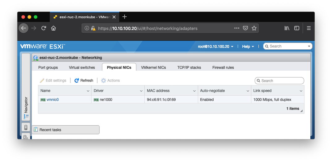 My adventure adding 10GbE networking to an Intel NUC for ESXi via