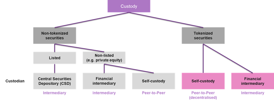 Figure 5: Overview of possible custodians for securities