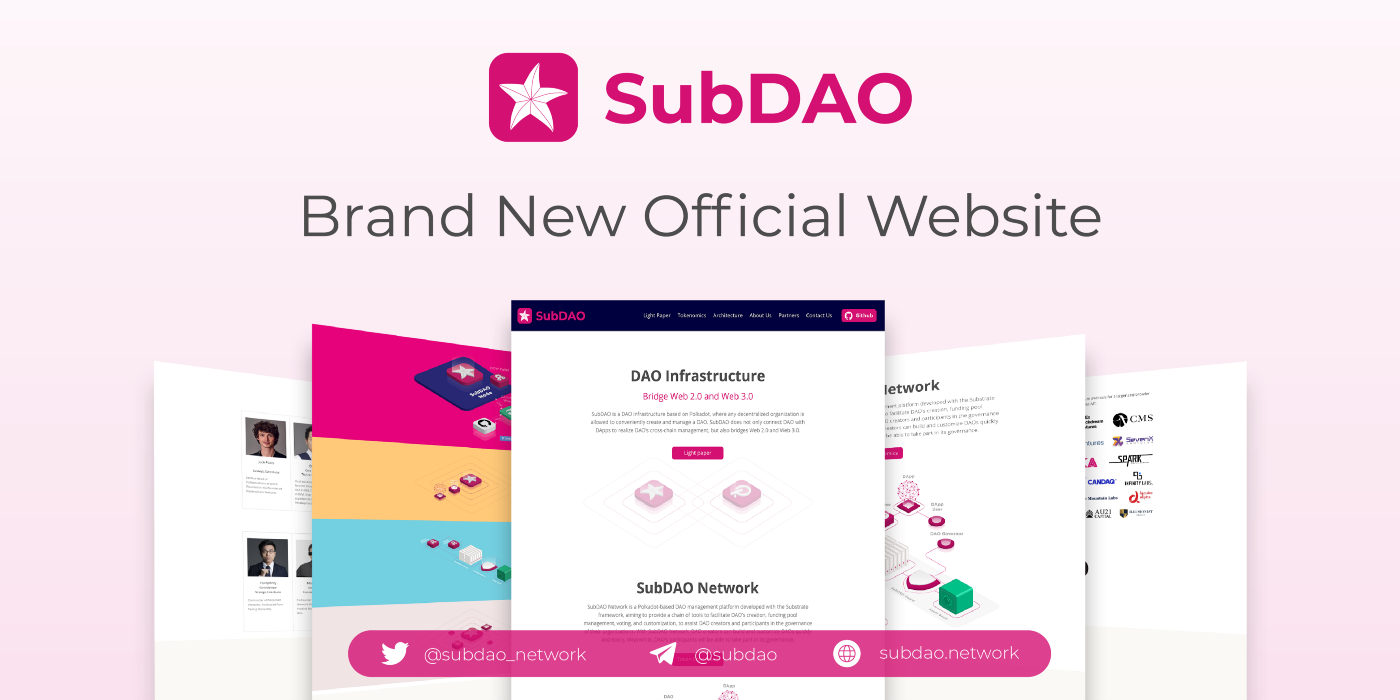 SubDAO Brand New Official Website Is Upgraded to New Style