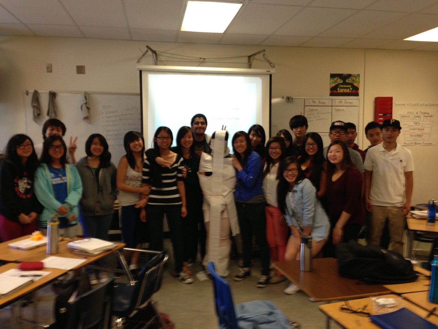 2013. Oakland High School. My AP biology class after they finished their year-end projects.