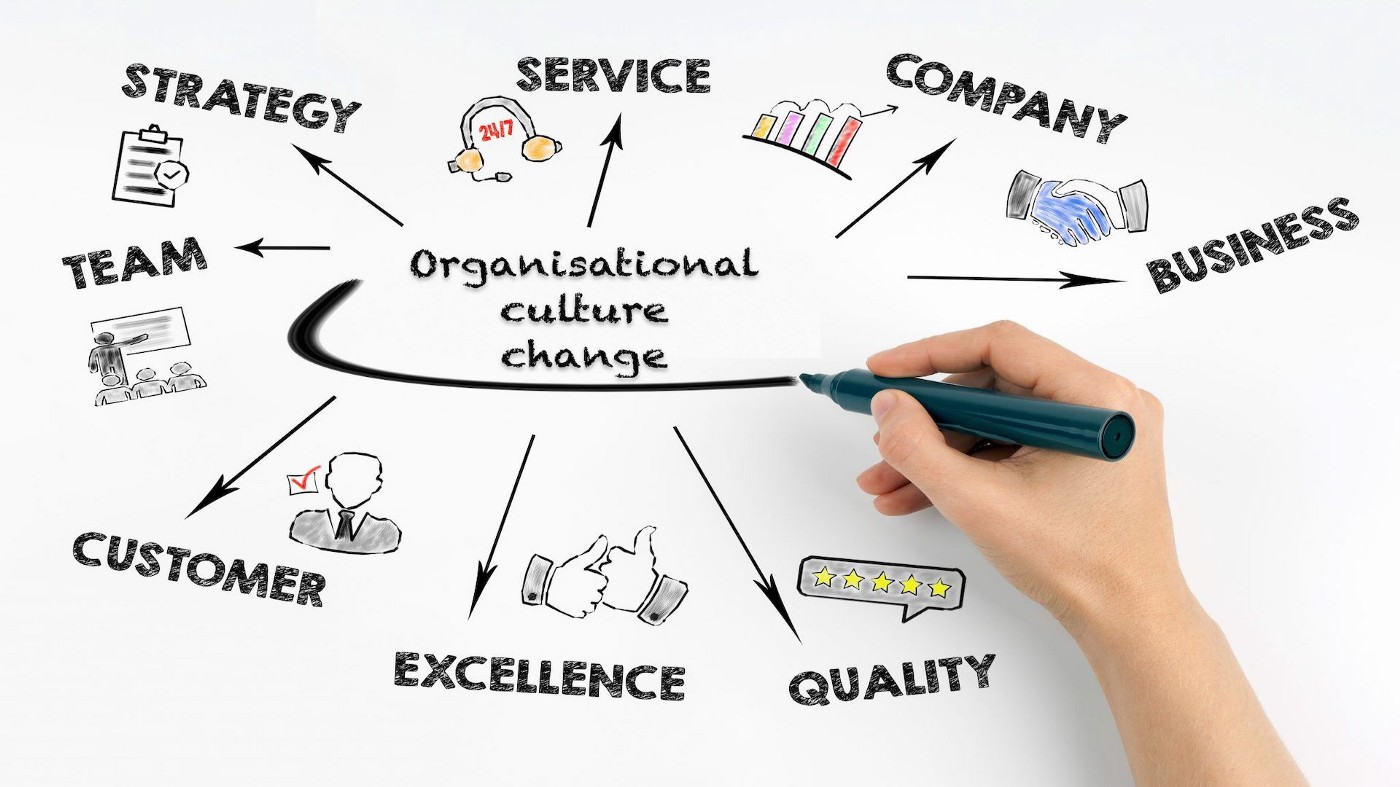 The Culture in High-performance Organisations—abstract illustration