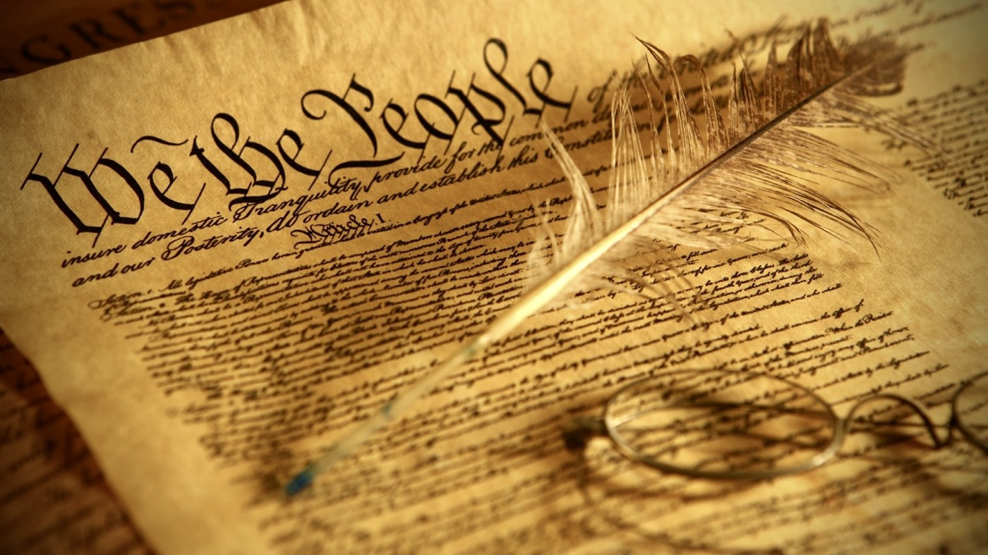 photo of the united states constitution