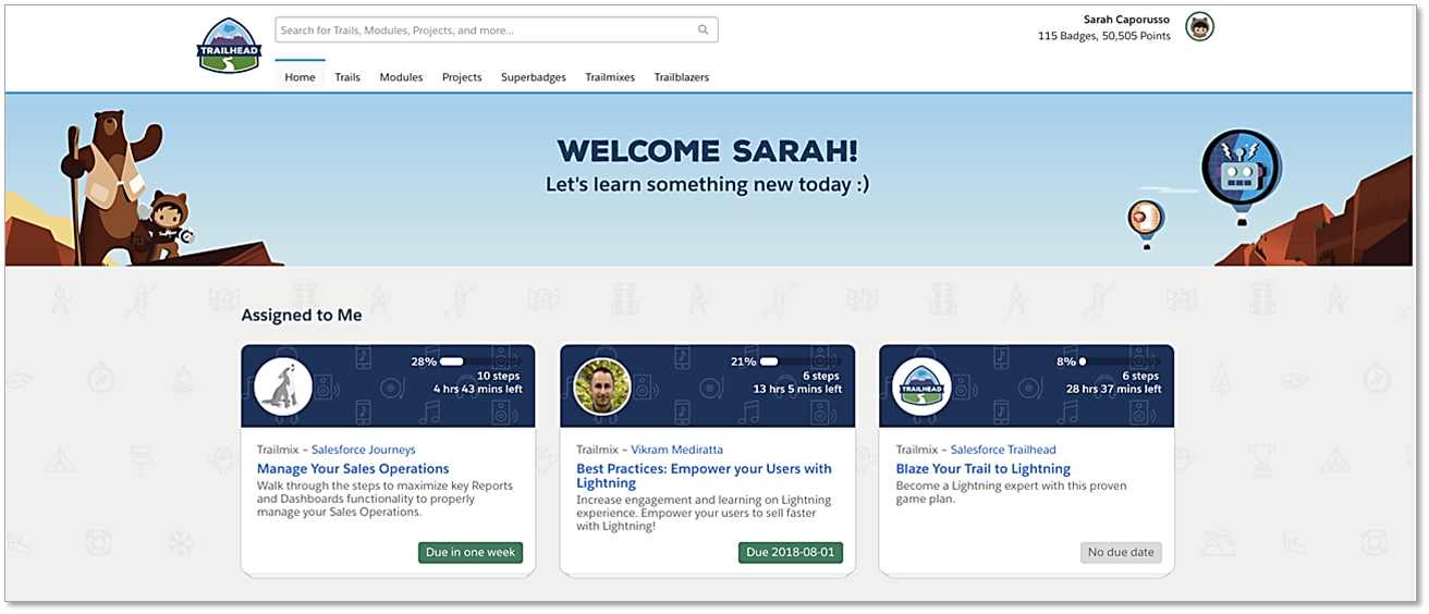 How Trailhead with Trail Tracker Will Help You Drive Salesforce Adoption