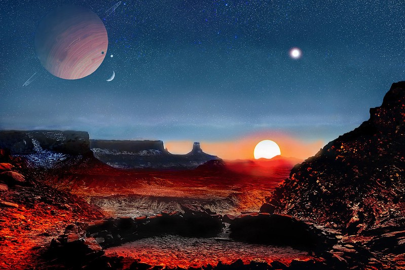 A science fiction story on a distant planet with a cat…