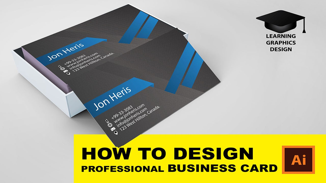 HOW TO DESIGN 15 YEARS OLD PROFESSIONAL BUSINESS CARD In Adobe
