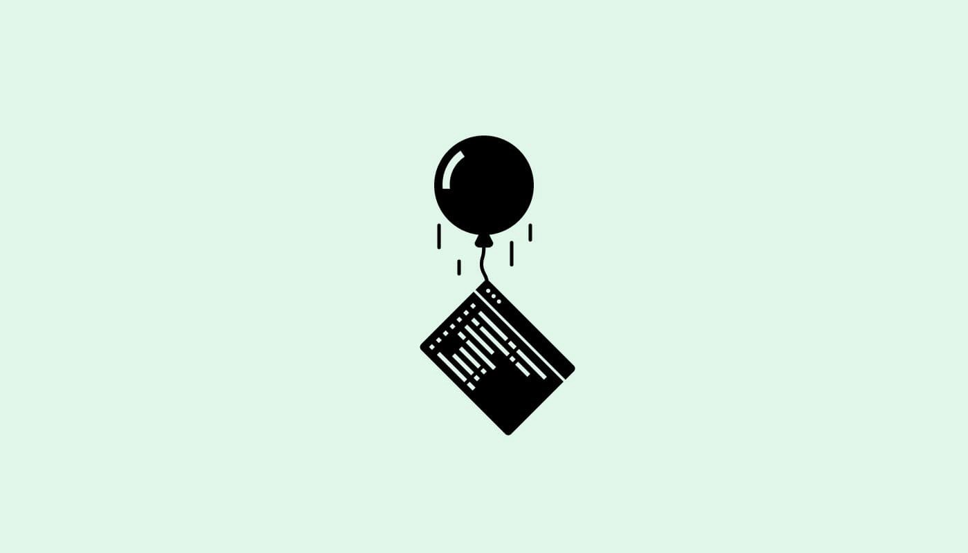 """Illustration of website """"floating"""" on a balloon"""