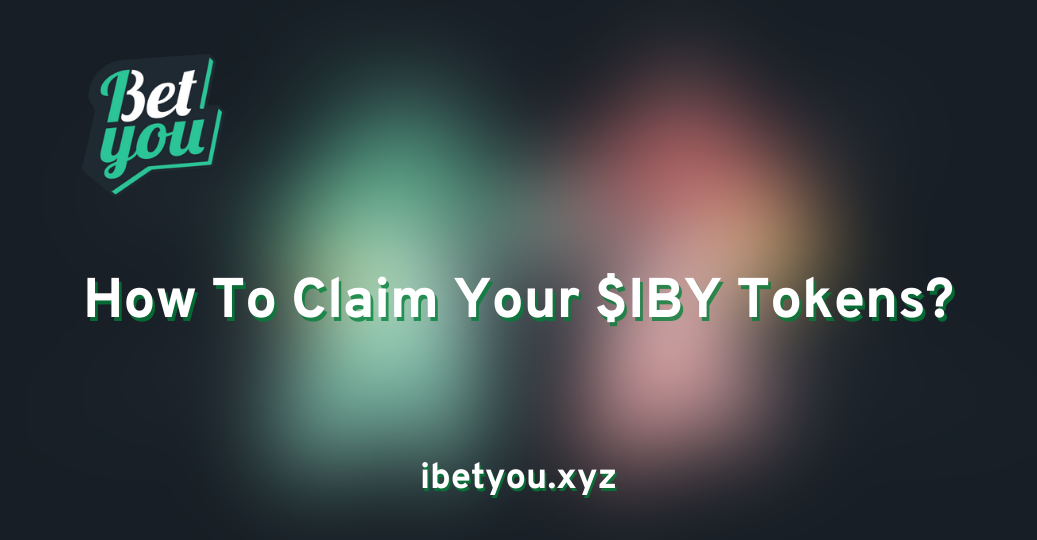How to claim $IBY tokens