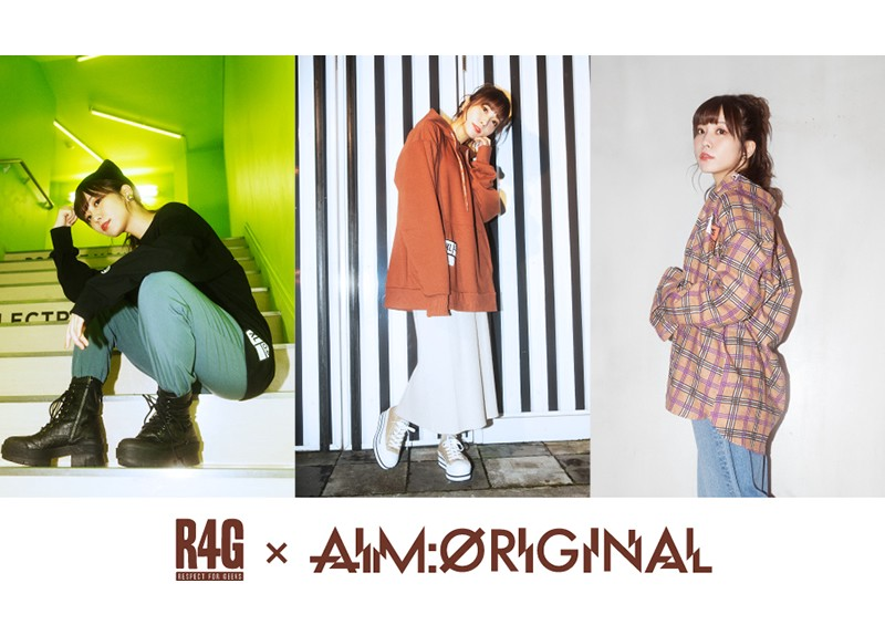 Aimi apparel collab with R4G