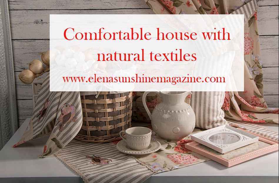 Comfortable house with natural textiles