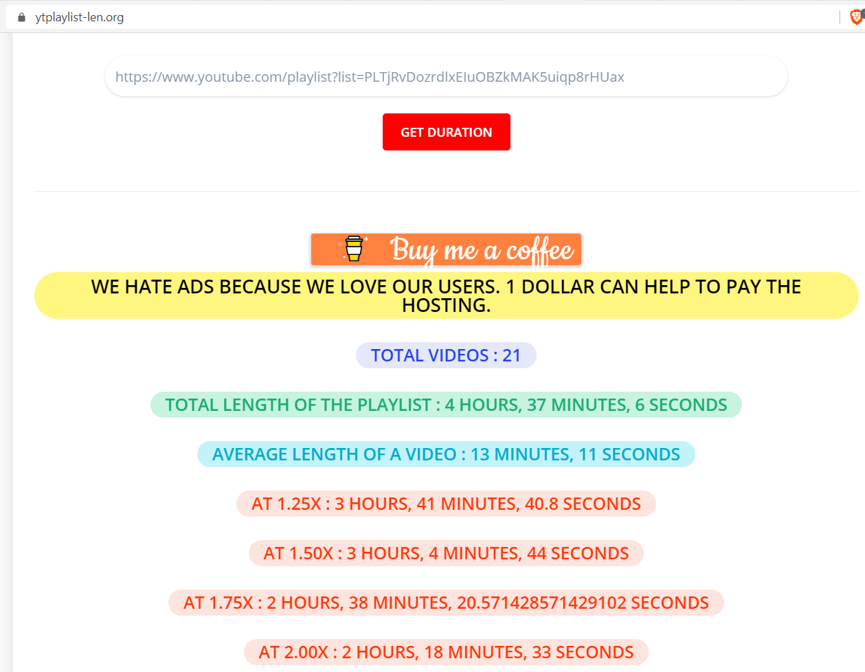 20 ways to find the runtime duration of a YouTube playlist   by ...