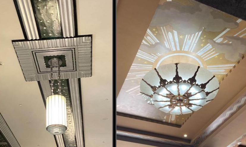 Pendant lights and decorative ceilings