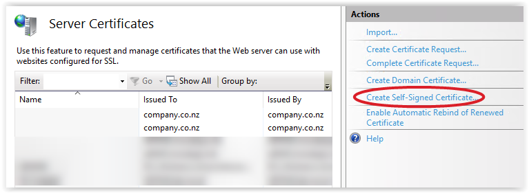 Generating self-signed certificates on Windows - The new control
