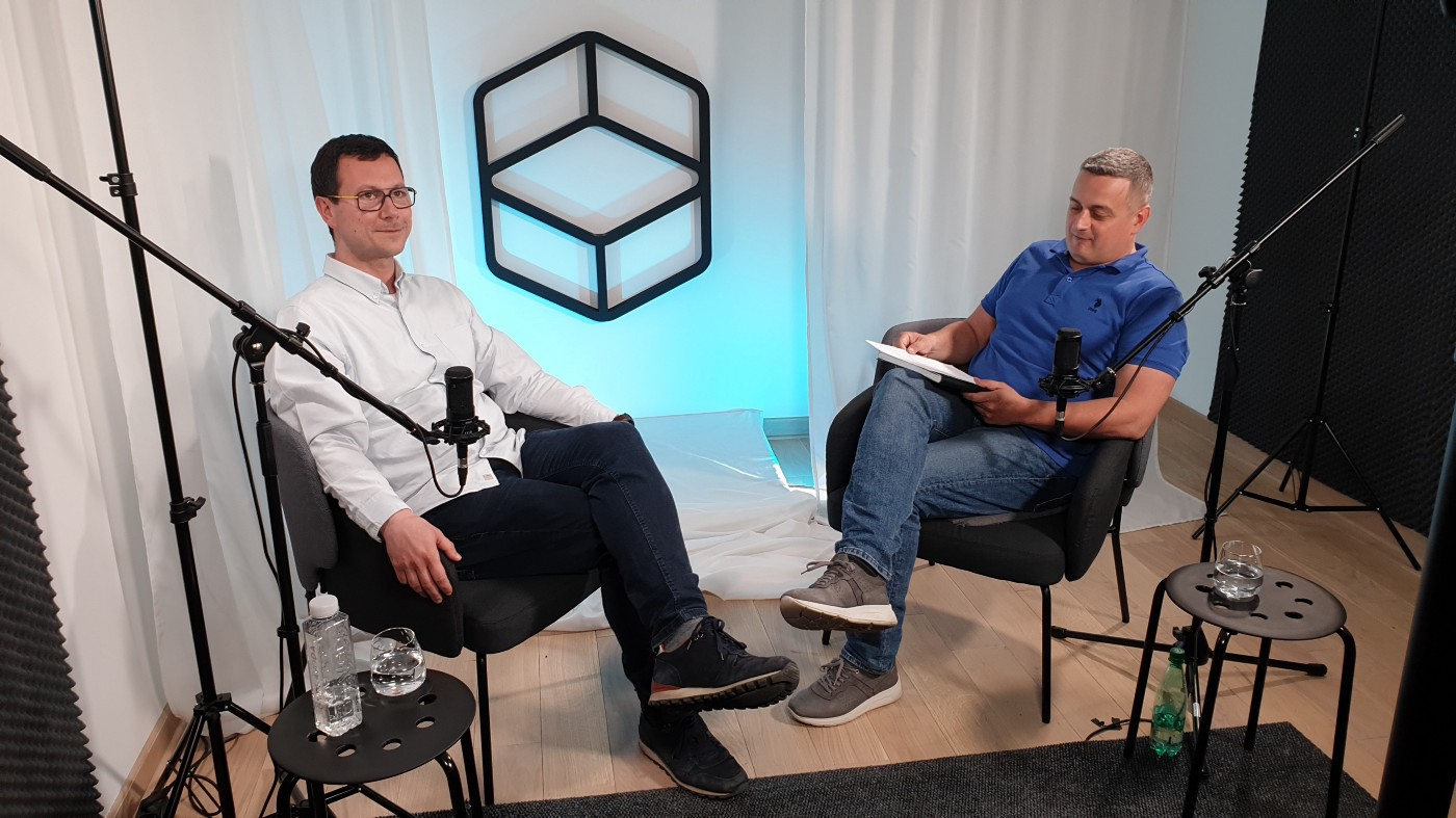 Nemanja Timotijevic and our guest, Ivan Gligorijevic in the ChairTalks studio getting ready for shooting