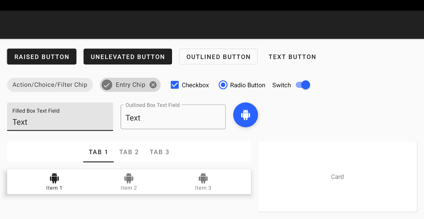 Setting up a Material Components theme for Android - Over