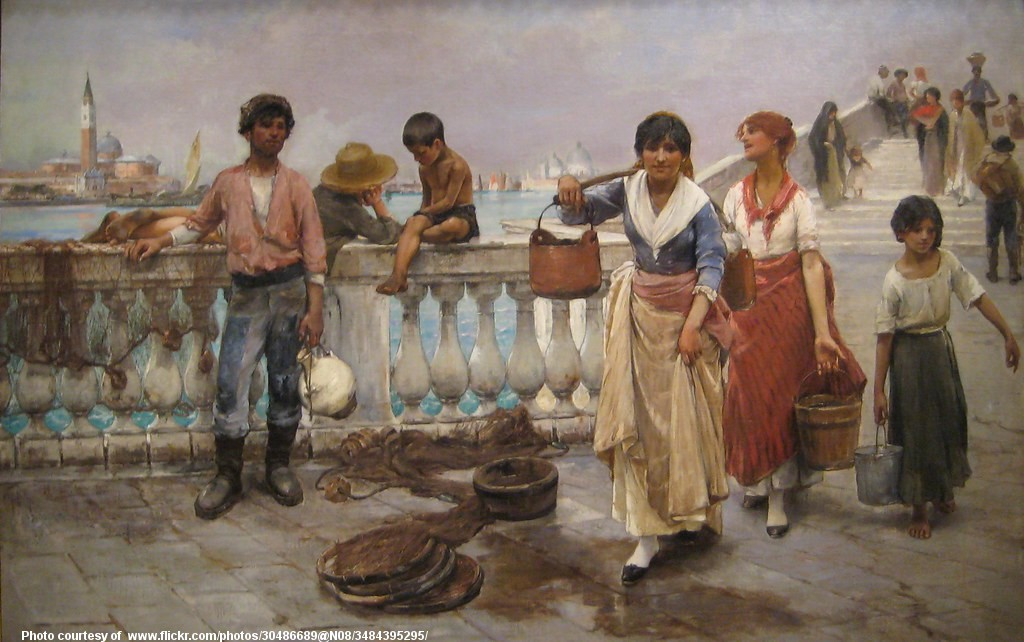 Painting of peasant women carrying water