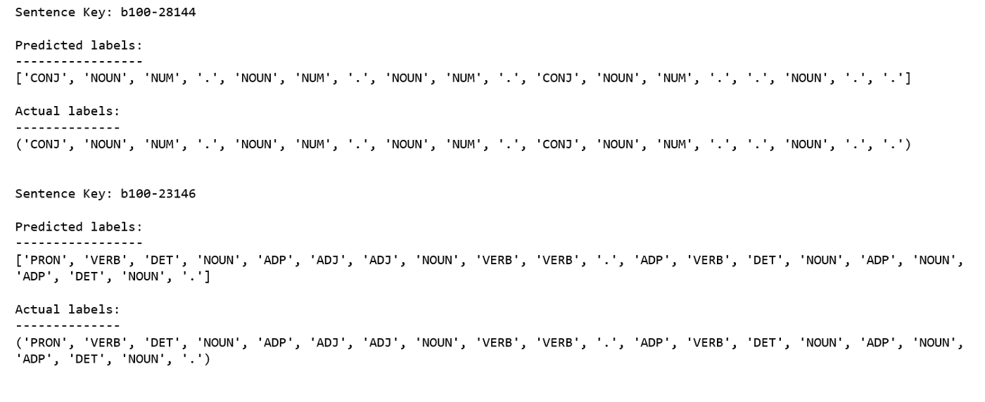 Part of Speech Tagging with Hidden Markov Chain Models