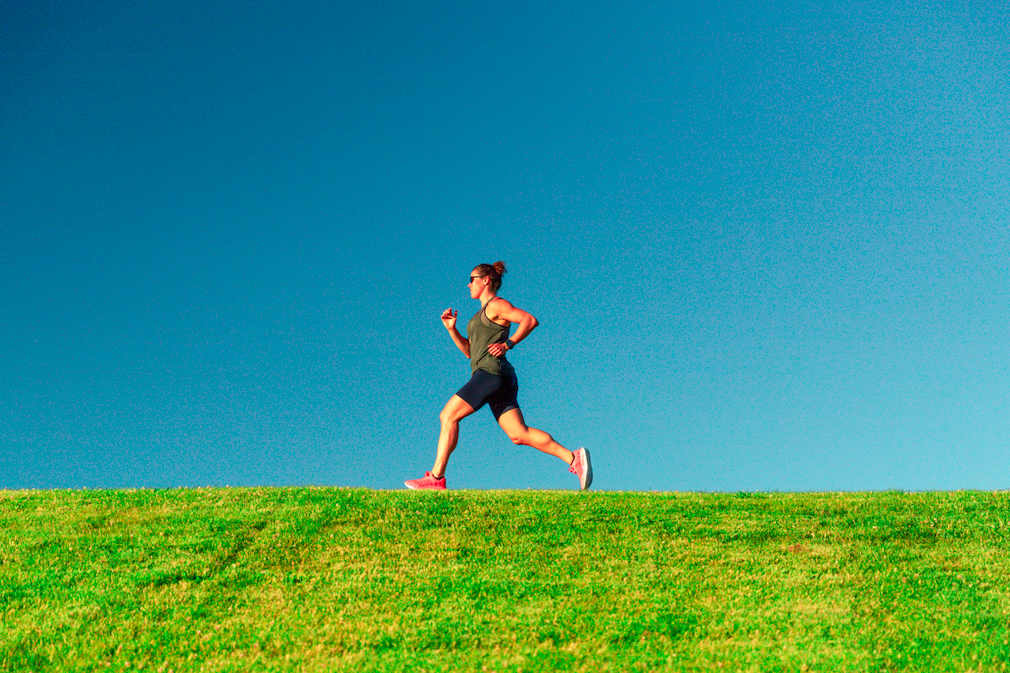 Photo of the author running.