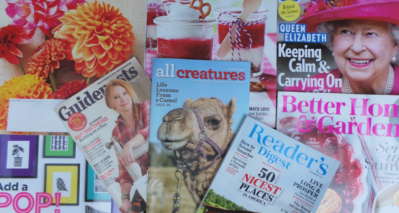 several magazine covers scattered in a montage