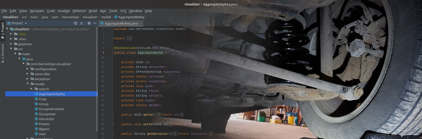 Picture of code fading to car suspension