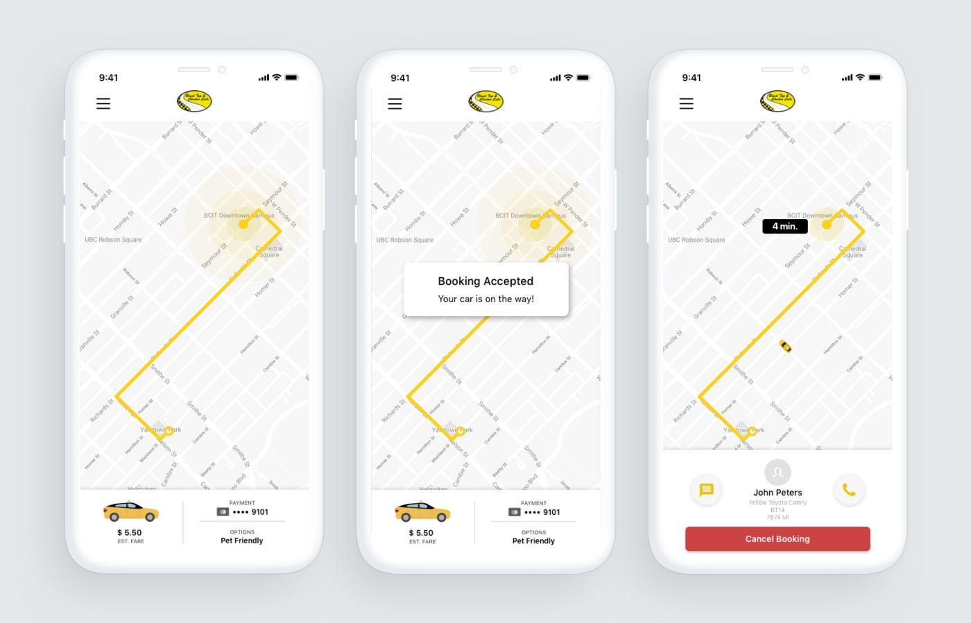A city without ride-hailing: why I redesigned the Black Top Cabs app