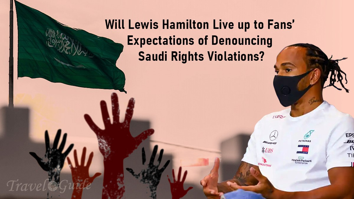 Will Lewis Hamilton live up to fan's expectations of denouncing Saudi rights violations.