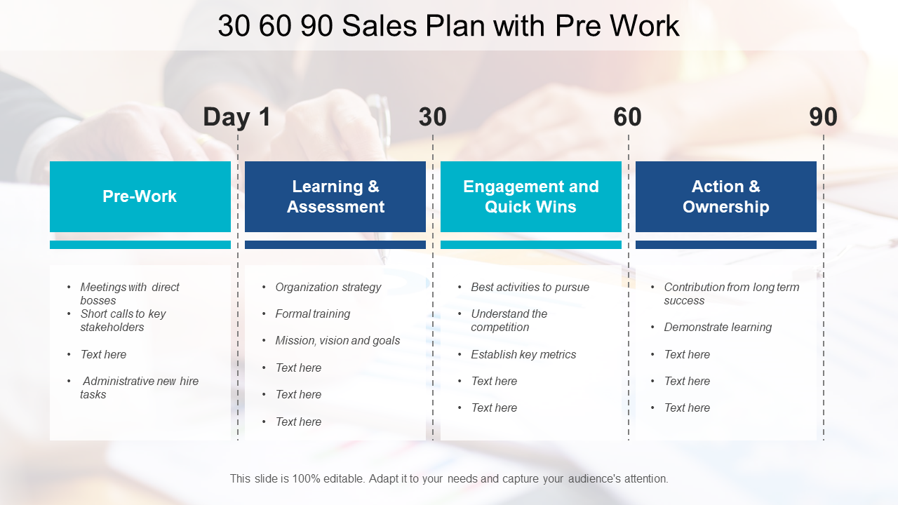 30 60 90 Day Plan PowerPoint Graphic