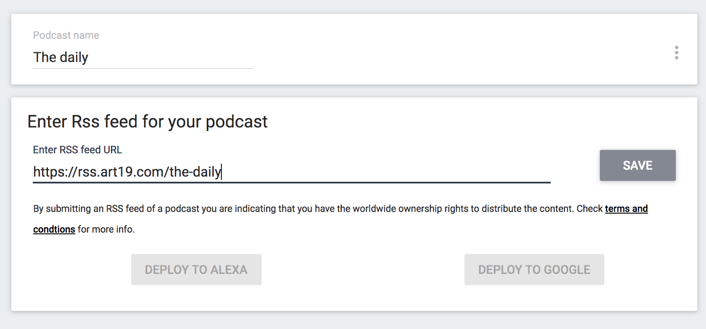Create an Alexa skill for your podcast in minutes - ApiToBot Help
