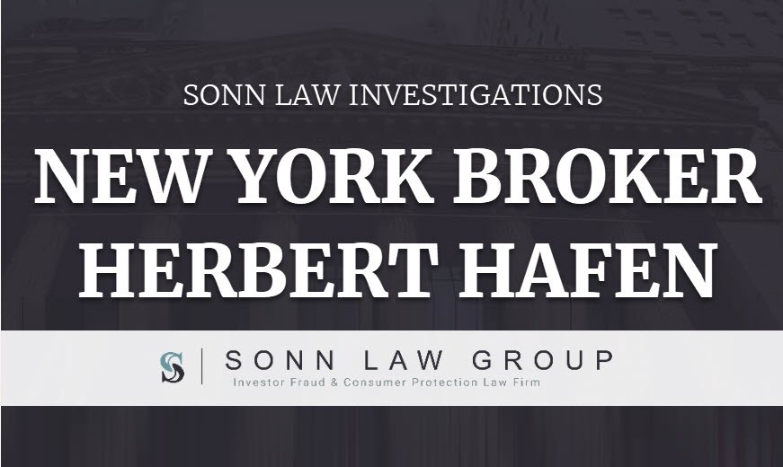 Investigation of Former New York Broker Herbert H  Hafen