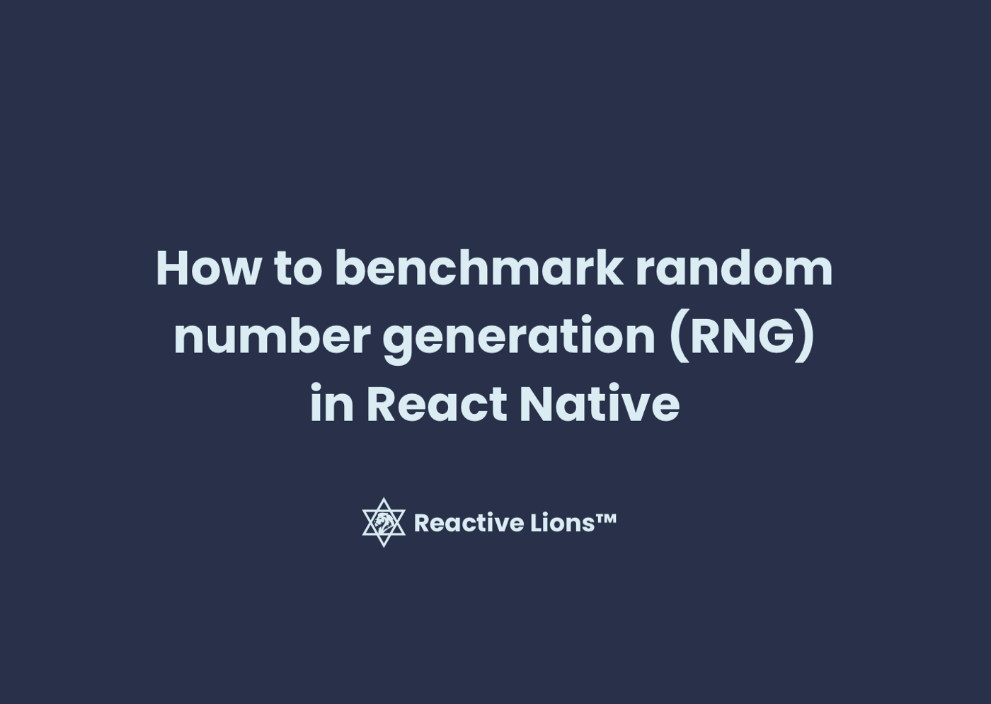 How to benchmark random number generation (RNG) in React Native