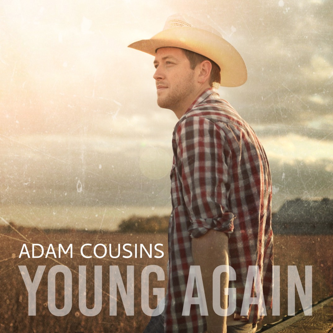 """Official single art for Adam Cousins' single, """"Young Again""""."""