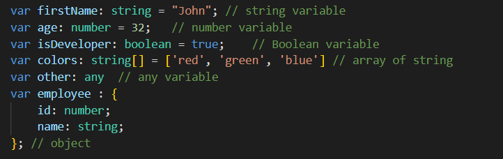 Typescript is a typed language like C# and Java