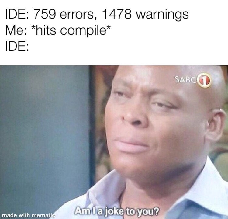Credit by @ProgrammersMeme on Twitter