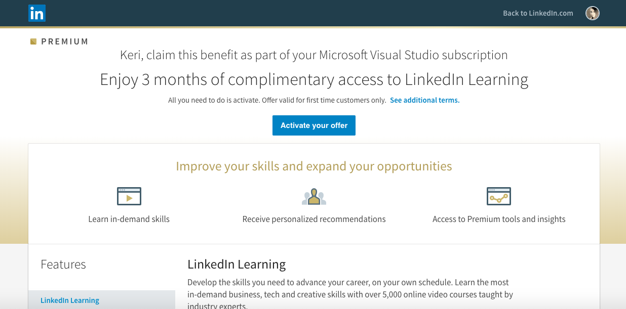 How To Get 1 Month of LinkedIn Learning For Free - Keri Savoca - Medium