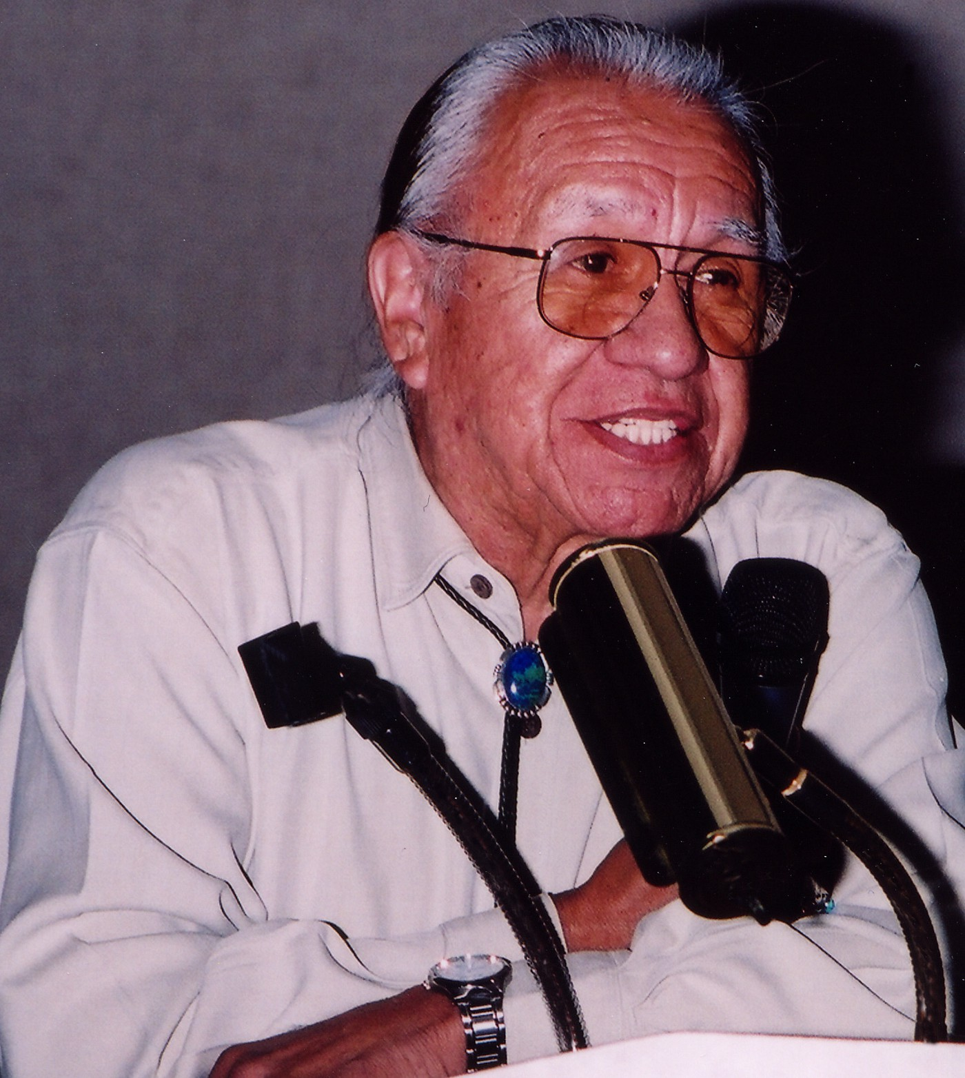 Photo of Billy Frank Jr. Photo credit: Northwest Indian Fisheries Commission.