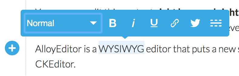 AlloyEditor a Medium style WYSIWYG - dotdev