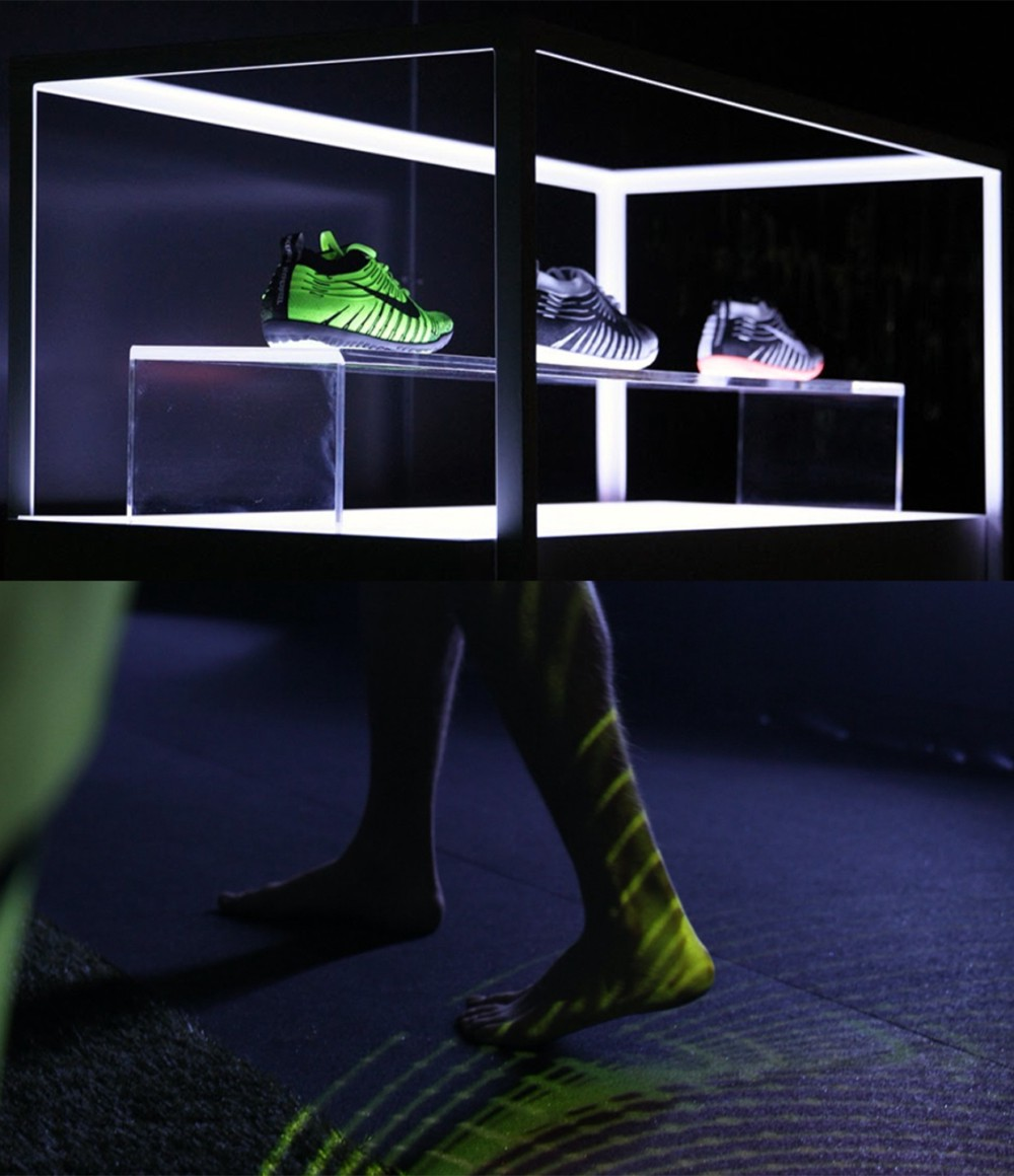 display with legs and feet with Nike shoes form alexei orlov and Syndicate Sub Rosa