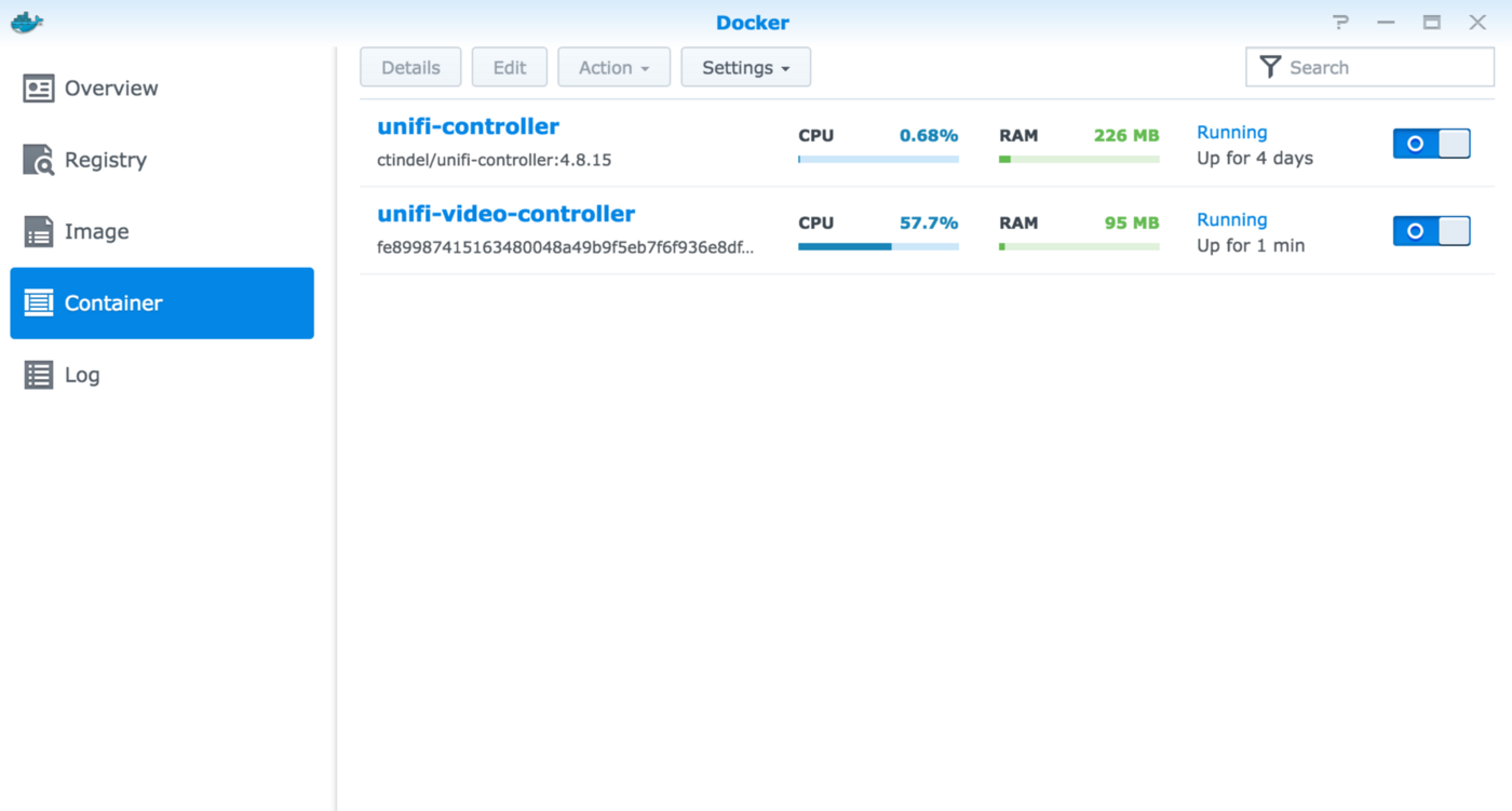 Running Unifi Video Controller in Docker on Synology