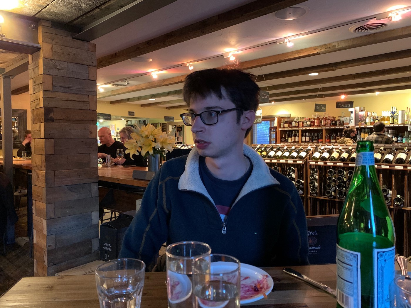 Young man at restaurant