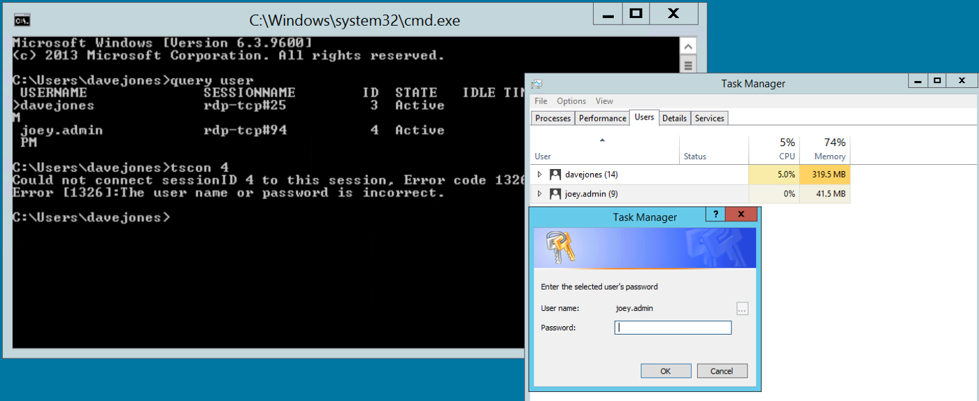 RDP hijacking — how to hijack RDS and RemoteApp sessions