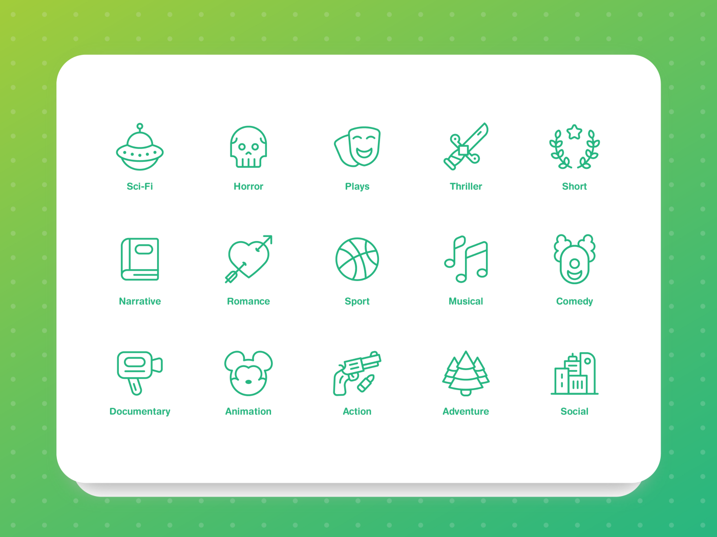 Designing an Icon Set for Movie Genres - Muzli - Design Inspiration