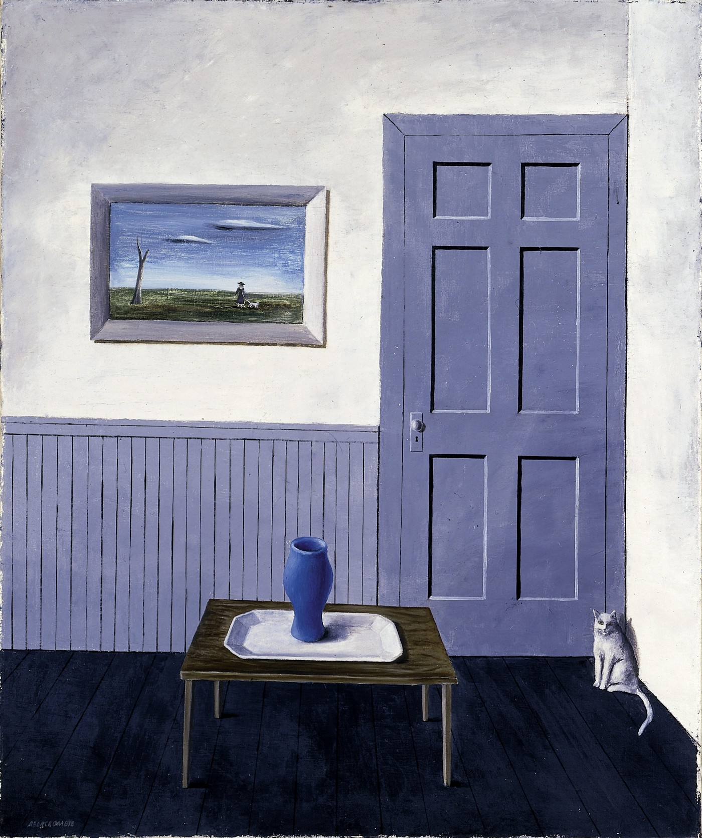 Gertrude Abercrombie, White Cat, ca. 1935–1938, oil on canvas, Smithsonian American Art Museum