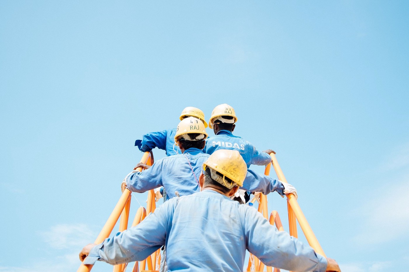 Work Safety: workers on the way