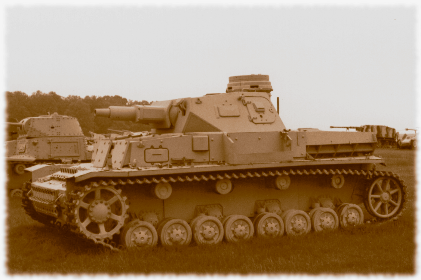 The Panzer IV, a WWII German tank. Based on a photo by the author taken a Aberdeen Proving Grounds, Maryland, USA.