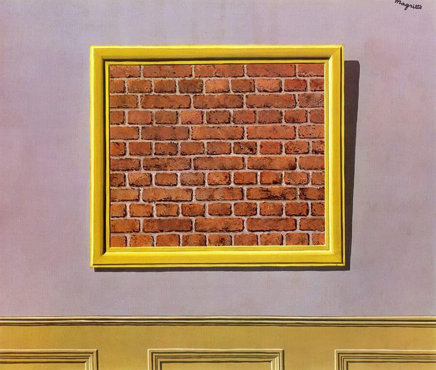 The Empty Picture Frame by Rene Magritte