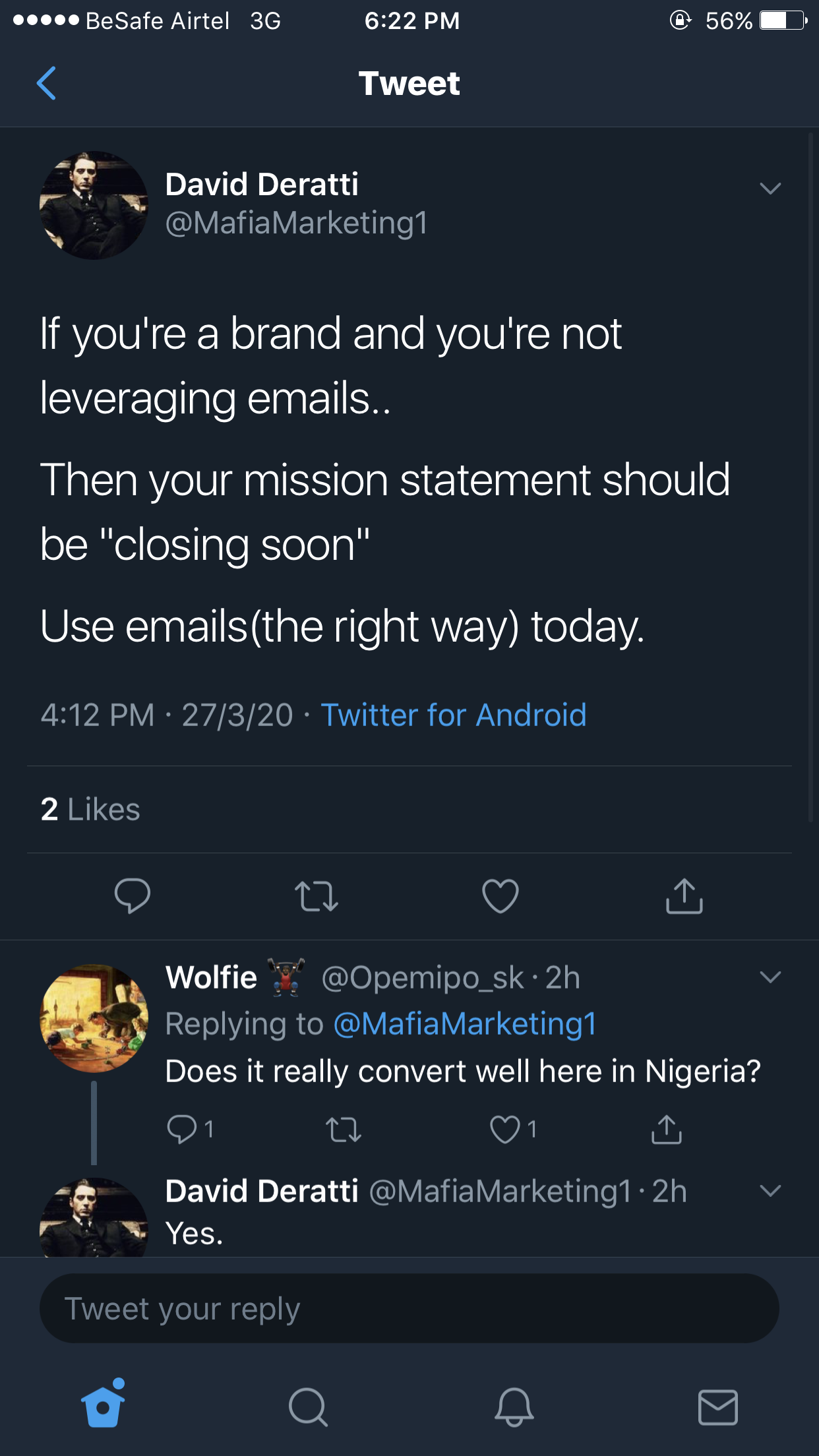 Quote: 'If you're a brand and you're not leveraging emails, then your mission statement should be ''closing soon''…'