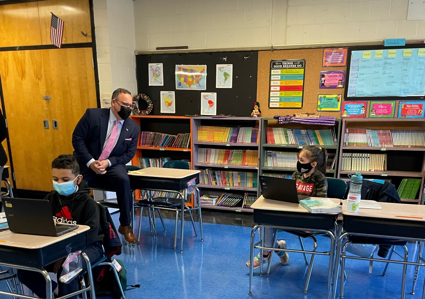 Students back in classrooms for in-person learning