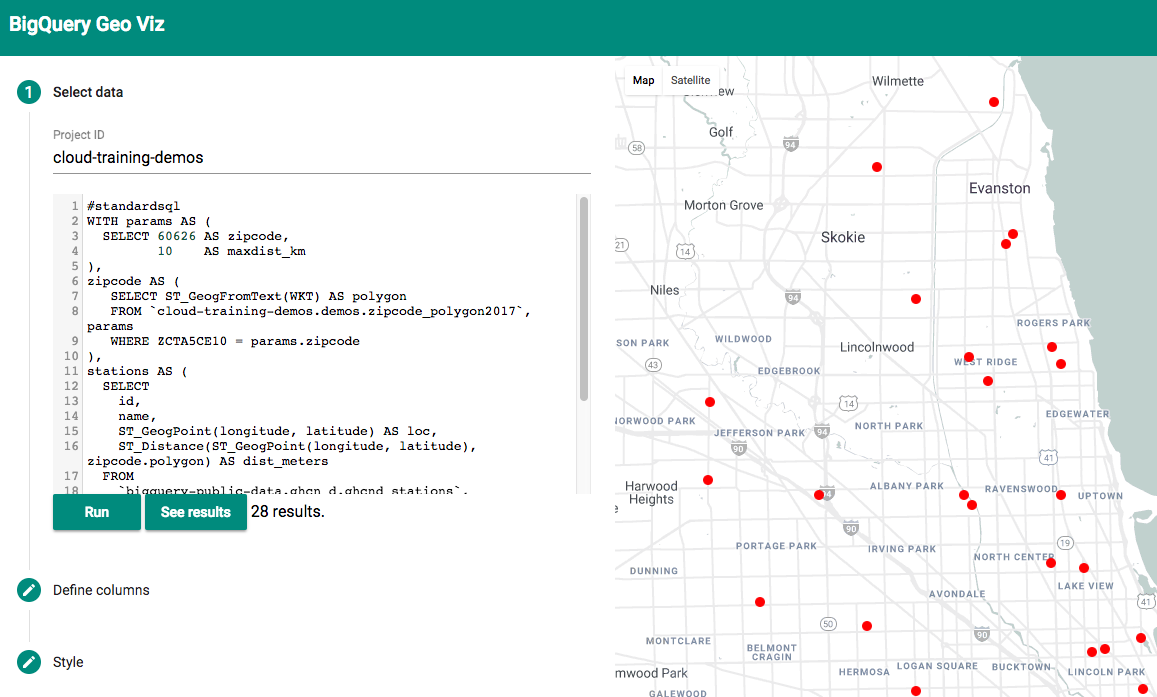 How to load geographic data like shapefiles into BigQuery