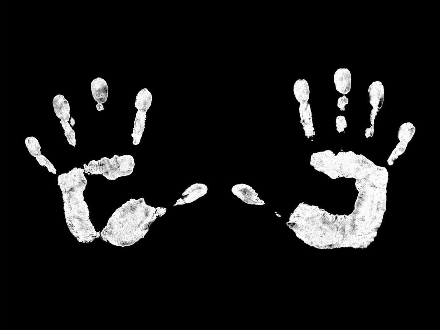 finger prints of two palms