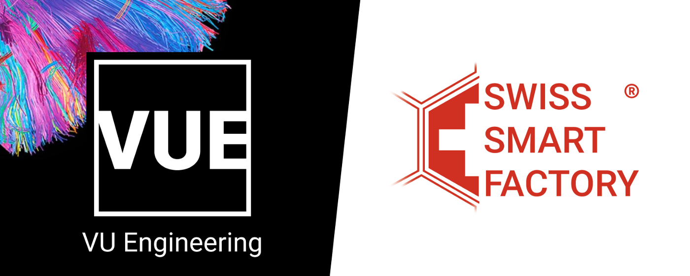 VU Engineering and Swiss Smart Factory's logos next to each other.