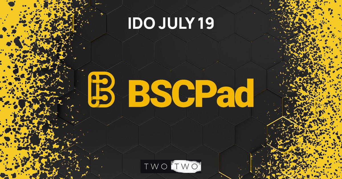TWO TWO and Binance Smart Chain Launchpad Banner